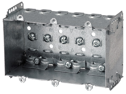 Galvanized Steel Device Box - 3-Gang