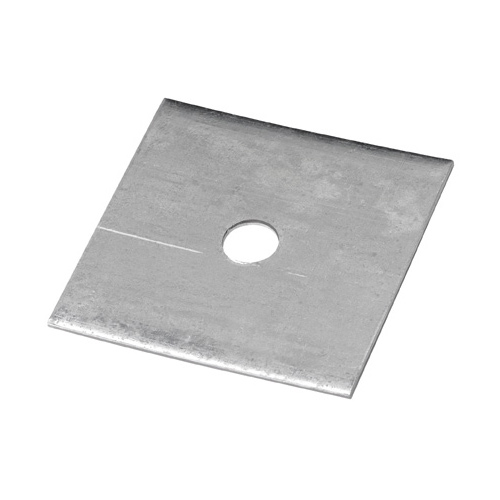 "Square Washer - Galvanized Steel - 4"" - 11/16"" Hole"