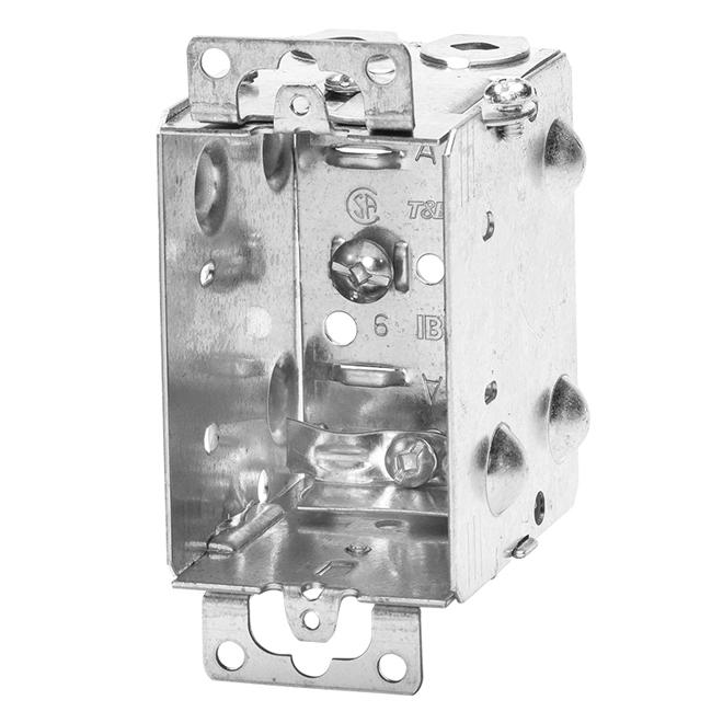 "Device Boxes - Gangable - Cable Clamps - 2 1/2"" - 4/Pk"