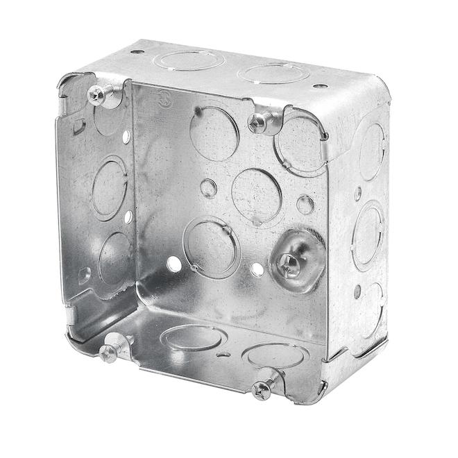 """Boîtes pour appareil, carrées, cuis/séch, 2 1/8"""", pqt/4"""