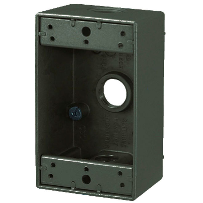 Device Box - Weatherproof - 3-Hole - 1-Gang - 2""