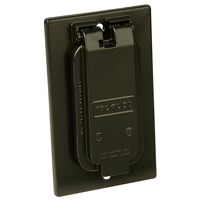 """""""GFCI"""" Vertical Outlet Cover, Bronze"""