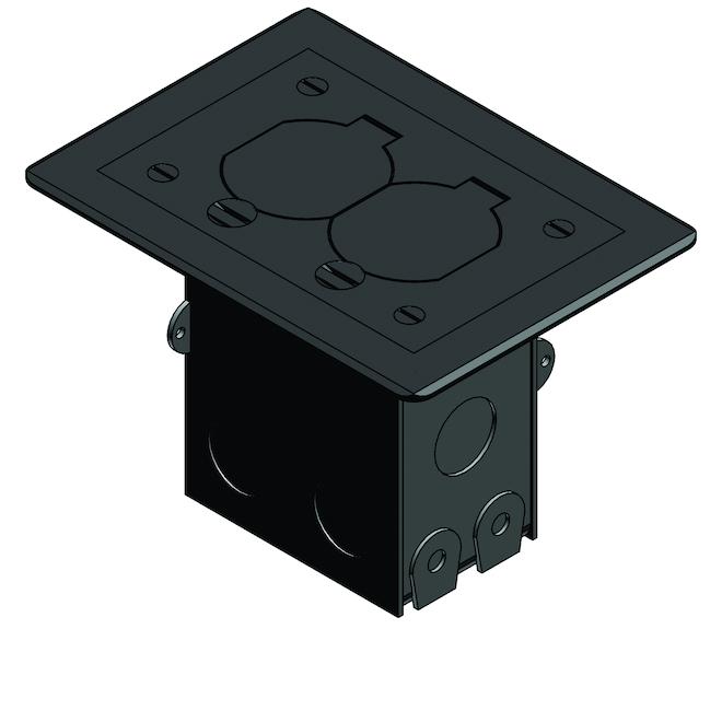 Thomas Betts Floor Box Kit Duplex Receptacle Nickel Rona
