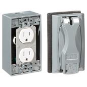 Duplex Outlet Kit - 15 A - 125v - Grey