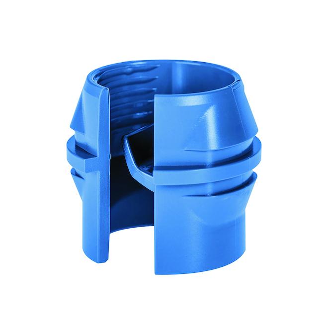 Connecteurs en plastique Iberville NMD90, 3/4 po, bleu, paquet de 5