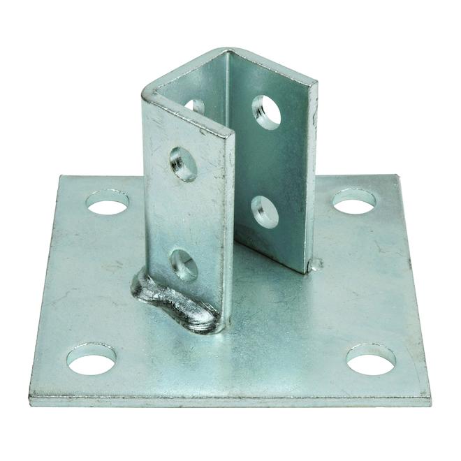 Base de poteau carré Superstrut 3/4 po en acier galvanisé