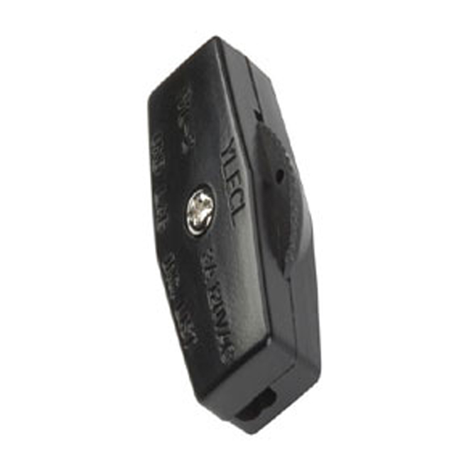 In-Line Universal Cord Switch - Black