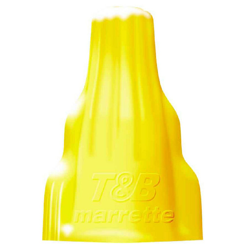 Wing-Type Wire Connector - Yellow - 15-Pack