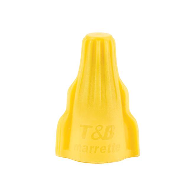 Connecteur de fil à oreilles, jaune, 15/pqt