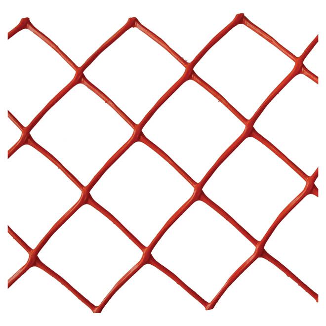Warning Fence - Plastic - Diamonds - 4' X 50' - Orange
