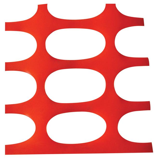 Clôture de sécurité en plastique, 4' x 50', orange