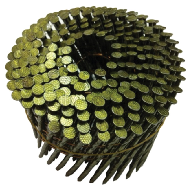 """Framing Nails - 15° Coil - Spiral - 2 1/4"""" - 4500/Box"""