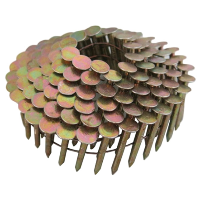 """Roofing Nails - 15° Coil - Galvanized - 1 1/4"""" - 7200/Box"""