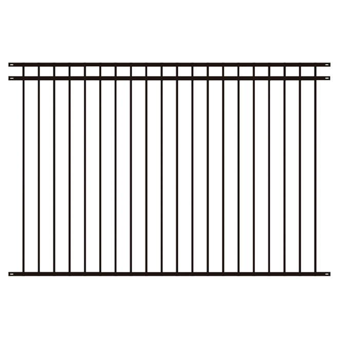 Knocked Down Steel Fence - 92'' x 60'' - Black