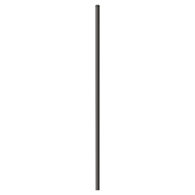 Fence Post with Cap - 2''x 2'' x 8' - Steel - Black