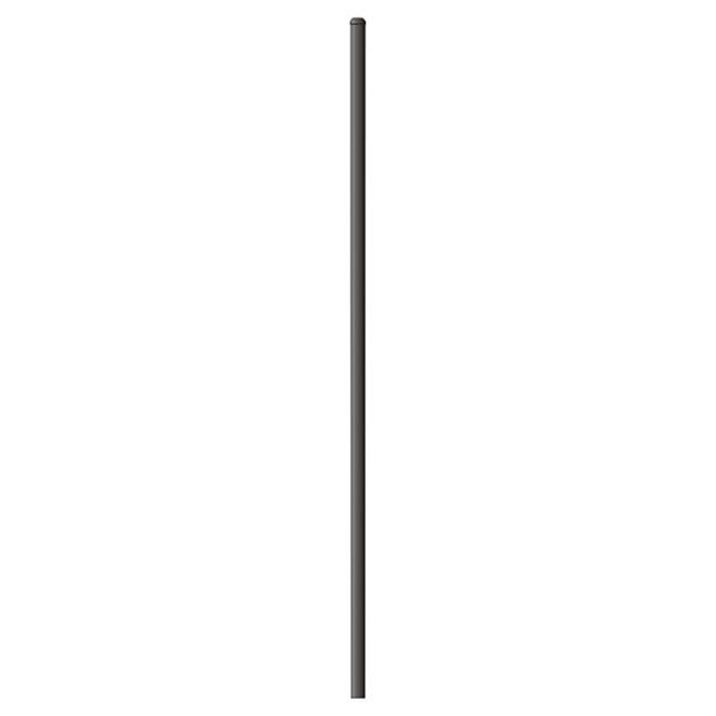 Poteau pour clôture avec capuchon, 2''x 2'' x 5,5', acier, noir