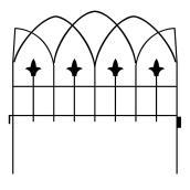 """Clôture décorative gothique Garden Craft, 19"""" x 19"""", noir"""