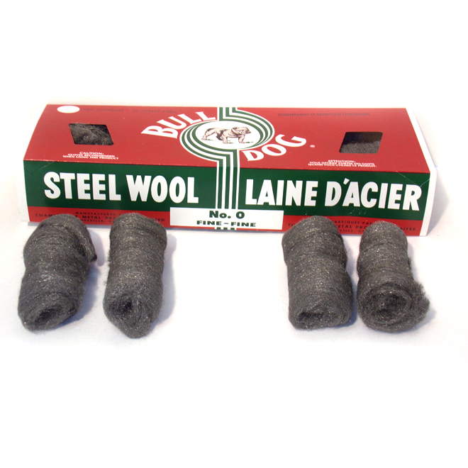 Pack of 16 Steel Wool Pads - Fine - #0