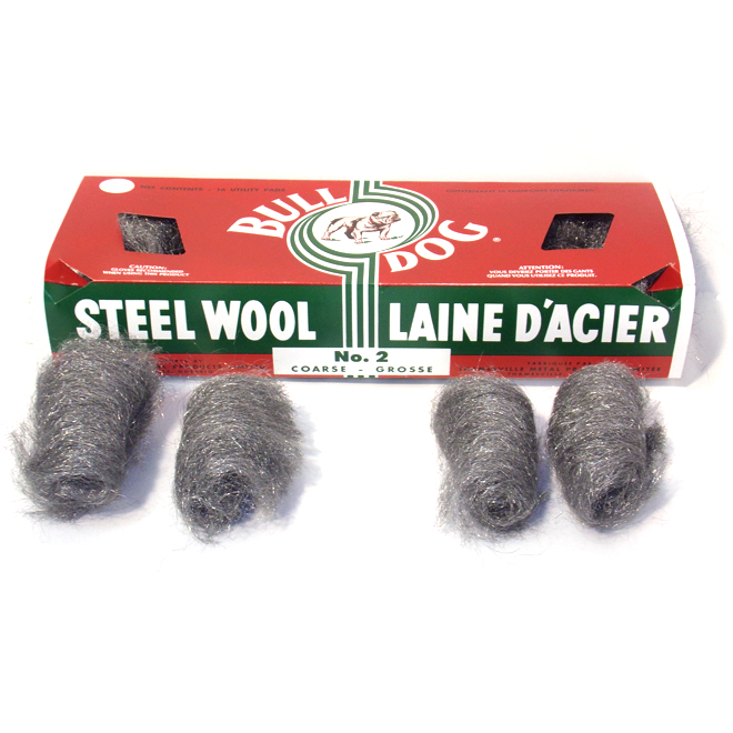 Emballage de 16 tampons de laine d'acier, grosse, #2