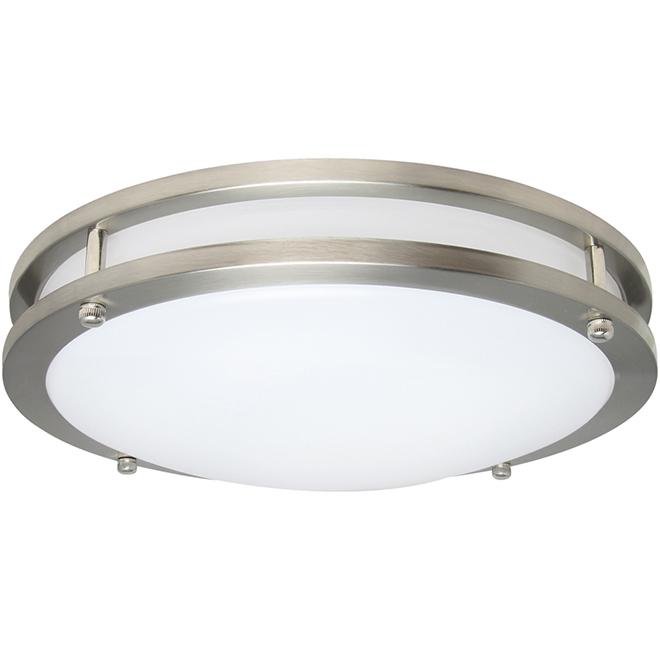 "LED Flush Mount Light - 20 W - 14"" - Silver"