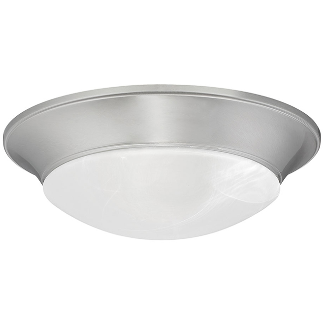 Star Mount Enterprise Dimmable Flush-Mount Ceiling Light - Integrated LED - Energy Star Qualified - Brushed Nickel
