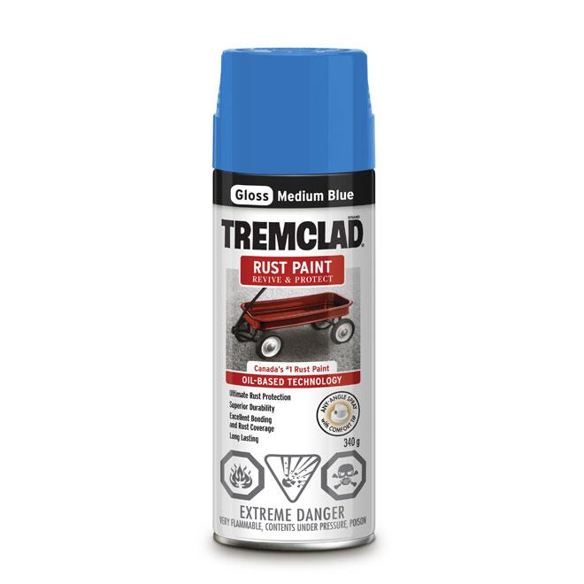 Tremclad Rust Spray Paint - 340 g - Medium Blue - Gloss