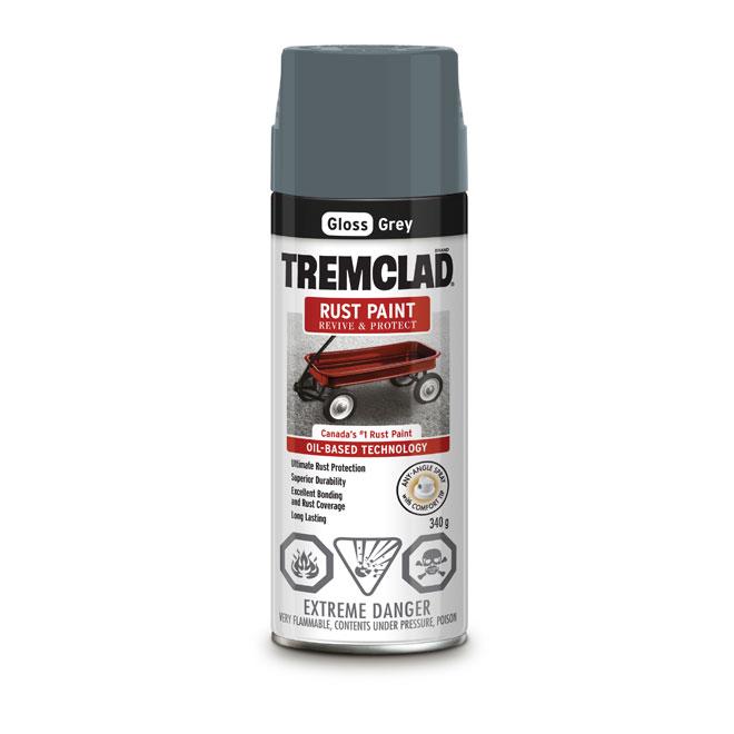 Tremclad Rust Spray Paint - 340 g - Grey - Gloss