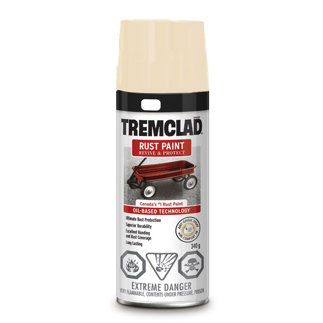 Tremclad Rust Spray Paint - 340 g - Clear - Gloss Finish
