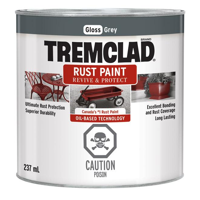 Tremclad(R) - Rust Paint - 237 Ml - Gloss Grey