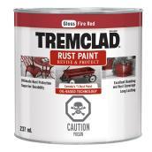 Tremclad(R) - Rust Paint - Gloss Finish - 237 Ml - Fire Red