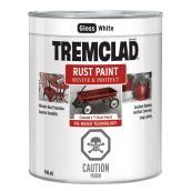 Tremclad Rust Paint - 946 ml - White - Gloss Finish