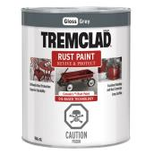 Tremclad Rust Paint - 946 ml - Grey - Gloss Finish