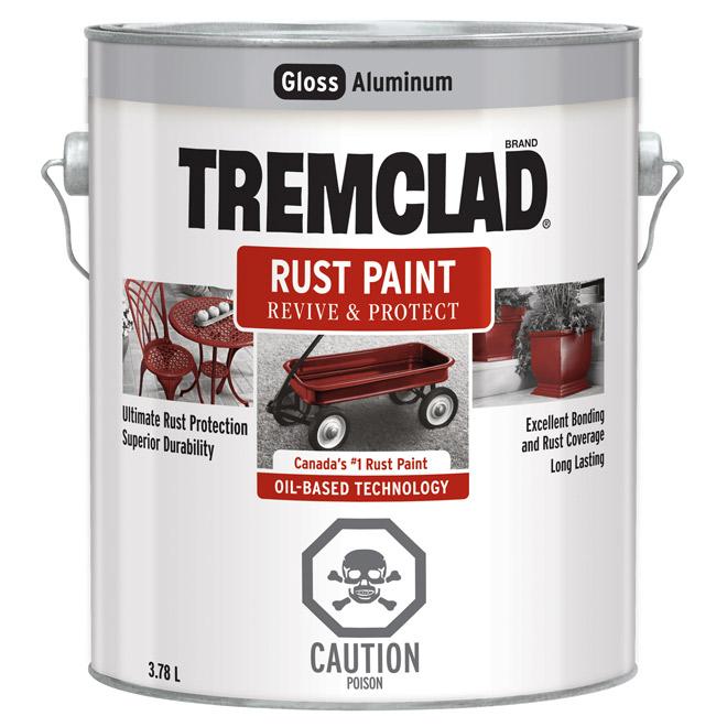 Tremclad(R) - Rust Paint - Gloss Finish - 3.78 L - Aluminum