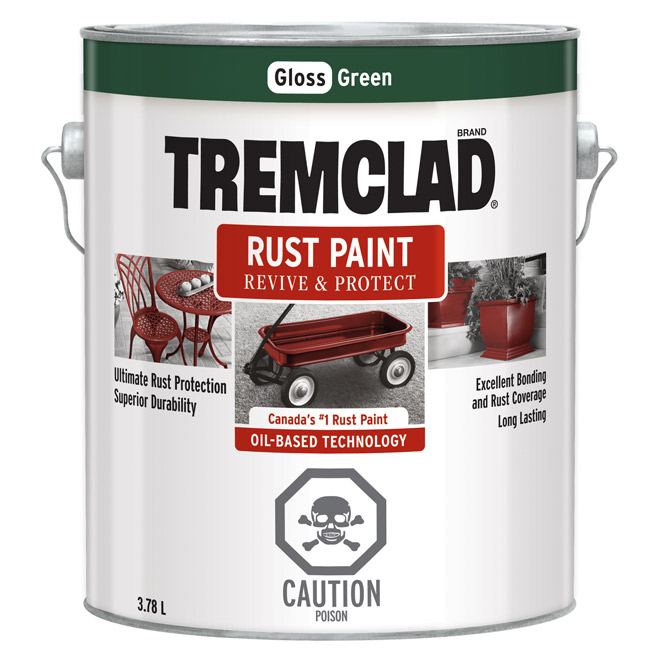 Tremclad(R) - Rust Paint - Gloss Finish - 3.78 L - Green