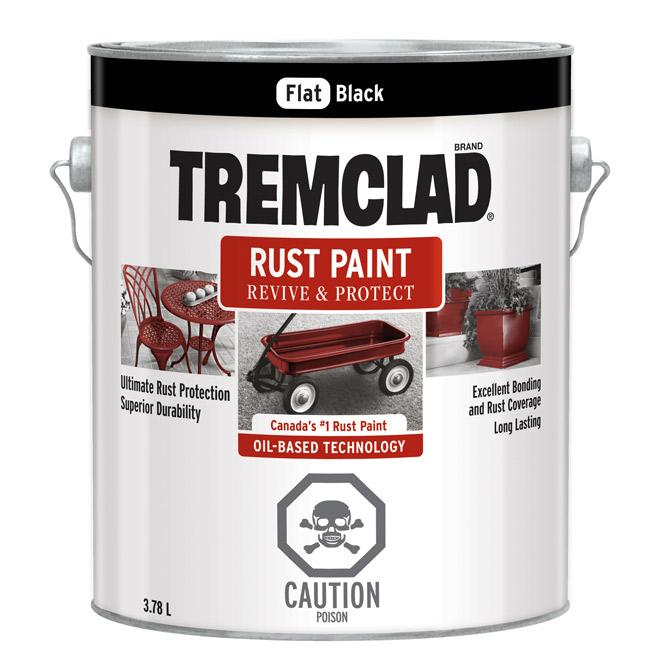 Tremclad(R) - Rust Paint - 3.78 L - Black Matte
