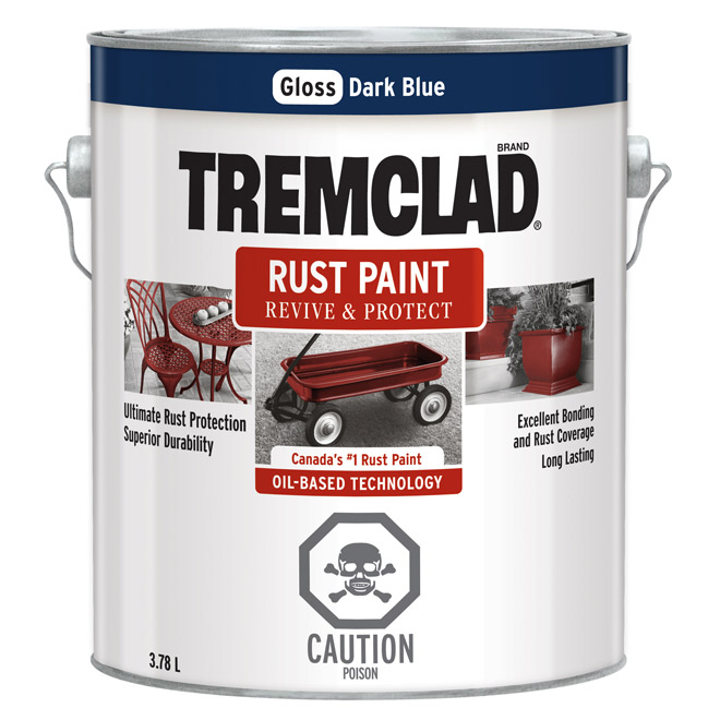Tremclad(R) - Rust Paint - Gloss Finish - 3.78 L - Dark Blue