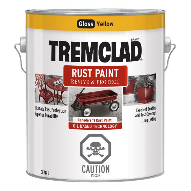 Tremclad(R) - Rust Paint - Gloss Finish - 3.78 L - Yellow