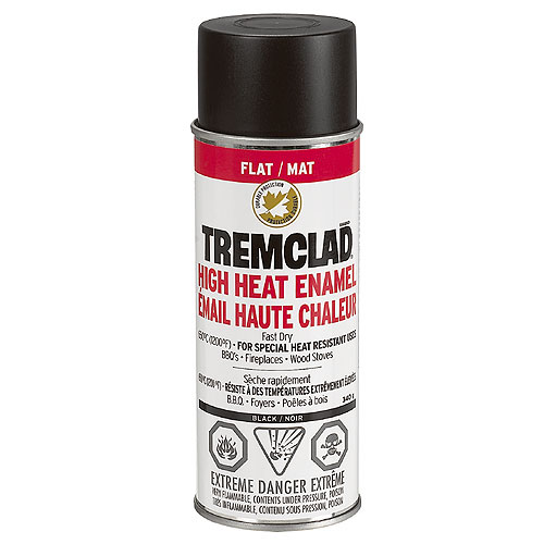 High Heat Spray Paint 340g - Flat Black