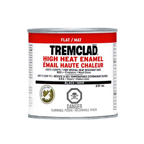 Tremclad High Heat Enamel - 237 ml - Flat Black
