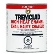 Peinture-émail Tremclad pour températures élevées, 946 ml, noir mat