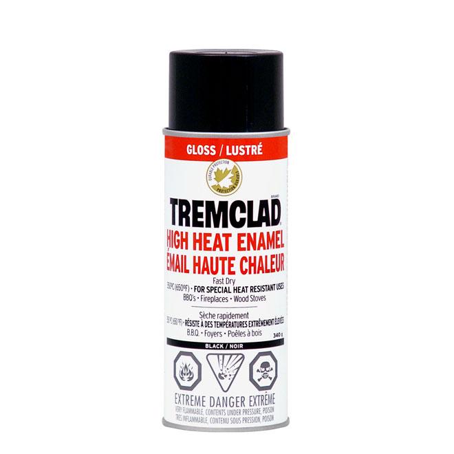 High Heat Spray Paint 340g - Glossy Black