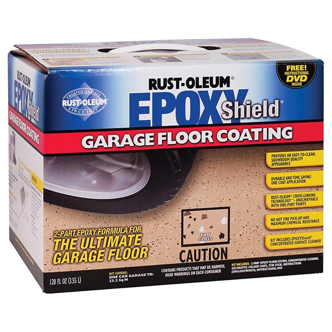 EpoxyShield® Garage Floor Coating - Glossy Tan