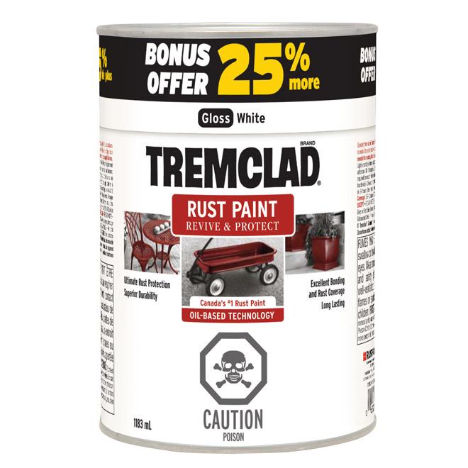 Paint - Anti-Rust Paint - Glossy White - 1183 mL
