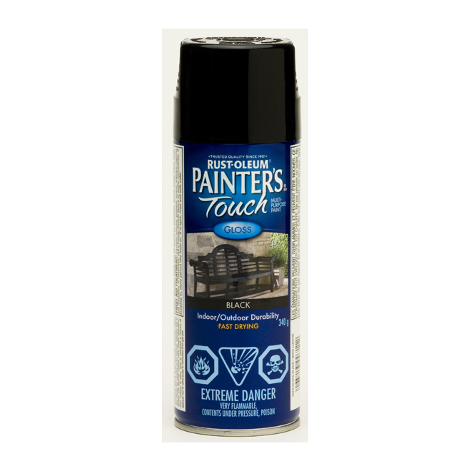 Painter's Touch - All-Purpose Paint - Indoor/Outdoor - 340 g - Gloss - Black