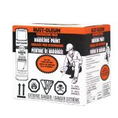 Rust-Oleum Inverted Marking Paint - Aerosol - 426 g - Red-Orange - 12/Pack