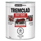 Peinture antirouille, Tremclad, 946 ml, fini semi-lustré, blanc