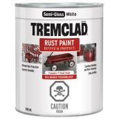 Tremclad - Antirust Paint - 946 mL - Semi-Gloss Finish - White