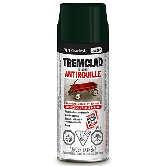 Peinture antirouille, Tremclad, 340 g , fini lustré, vert charleston