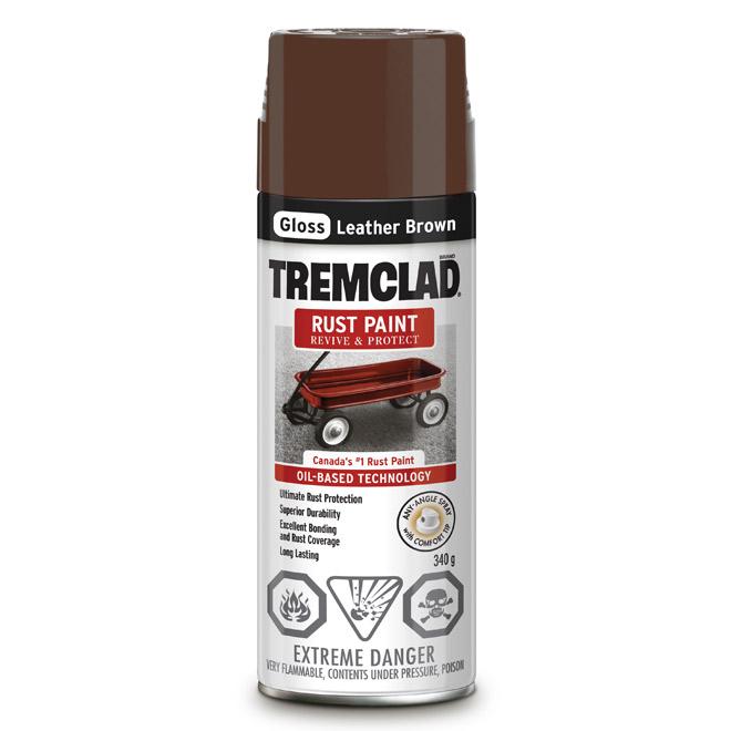 Tremclad - Antirust Paint - 340 g - Flat Finish - Leather Brown