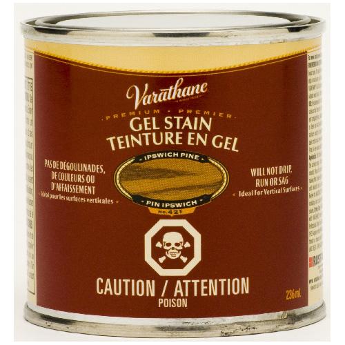 Teinture en gel pour l'intérieur Varathane Premium, à base d'huile, opaque, pin d'Ipswich, 236 ml